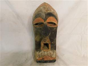 Hand Carved African Mask Songye People - Congo