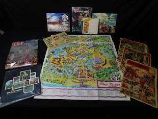 Lot of Walt Disney World Vintage Ephemera. Included are