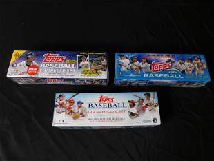 3 Boxes of Baseball Card Sets -2013 and Factory Sealed