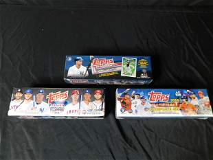 3 Boxes of Baseball Card Sets -Factory Sealed 2016 and