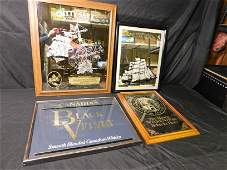 Lot of 4 Liquor Related Advertisment Mirrors and
