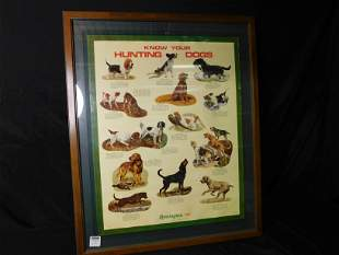 DuPont Remington 1974 Hunting Dog Poster