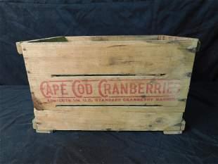 Cape Cod Cranberry's Wooden Crate
