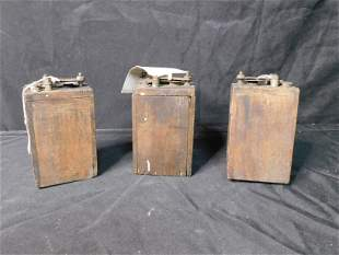 Lot of 3 Antique 1914 Ford Batteries