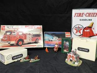 Group Lot of Fireman Related Items