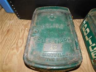 Gamewell Antique Police Telegraph Call Box #42