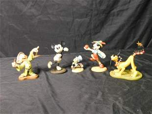 Lot of 5 WDCC Figurines - Pinocchio, Mickey Mouse and