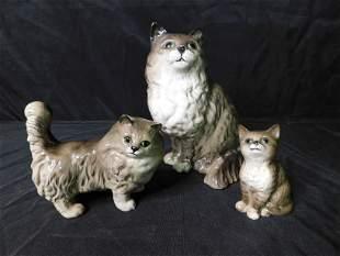 Lot of 3 Cat Figurines