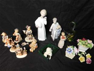 Box Lot of AS-IS Lladro and Hummels