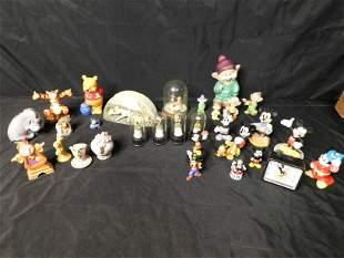 Box Lot with Disney Figurines