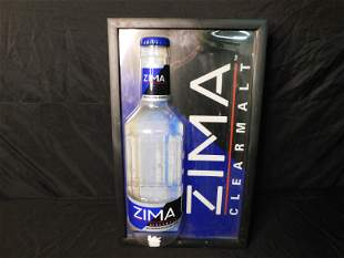 Zima Lighted Beer Sign