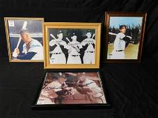 Lot of 4 Baseball Printed Autographed Pictures