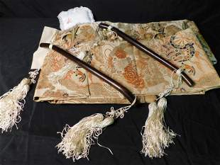 Box Lot of Asian Tapestry