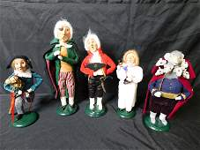 Lot of 5 Byers Choice Limited Carolers