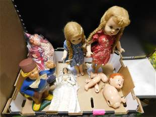 Lot of Composition Dolls