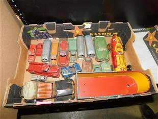 Lot of Vintage Pressed Steel and Tin Toys