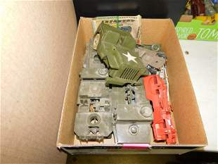 Lot of Plastic Army Toy Vehicles