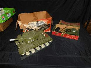 Lot of 2 Remco Military Toys