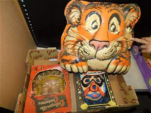 Box Lot with Vintage Halloween Costumes