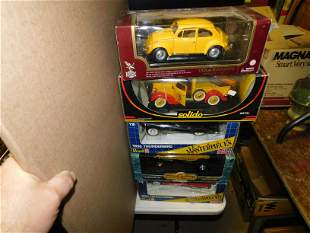 Lot of 5 Diecast Cars in Box