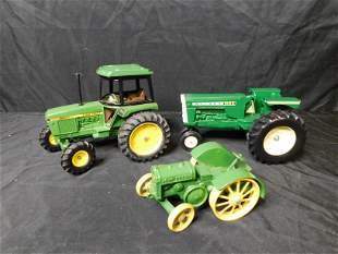 Lot of 3 John Deere and Oliver Farm Tractors
