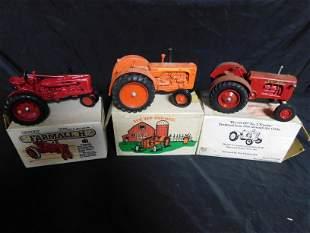 Lot of 3 Die-Cast Tractors