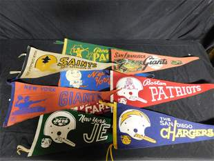 Lot of Sports Related Pennants