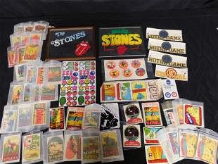 Box Lot with The Rolling Stones Mirrors and Decals