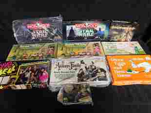 Lot of 10 Disney, Star Wars, TV Related Board Games