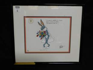 Blushing Bride Bugs Bunny Limited Edition Cel