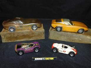Lot of 4 Vintage Cars including Ideal and Russ Kit