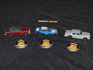 Lot of 3 Hot Wheels Redlines with Buttons