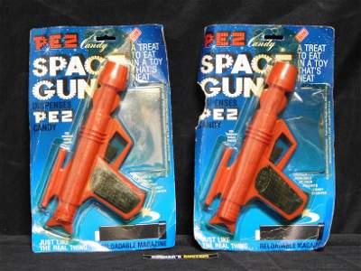 Lot of 2 Vintage Red Space Gun Pez in Packages