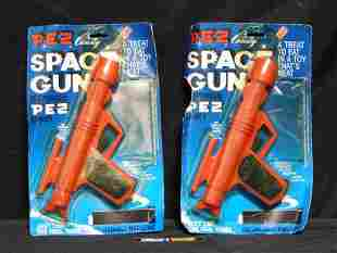 Lot of 2 Vintage Red Space Gun Pez in Packages