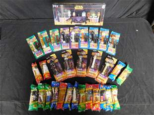 Large Lot of Star Wars Pez in Packages