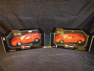 Lot of 2 Burago Ferrari Cars
