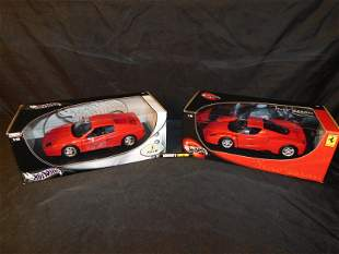 Lot of 2 Hot Wheels Ferrari Model Cars