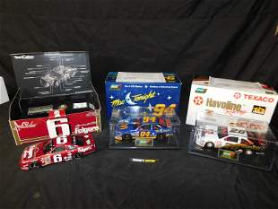 Lot of 3 1:24 Scale NASCAR Die-Cast Cars