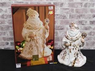 Lenox Florentine & Pearl Jeweled Santa Cookie Jar