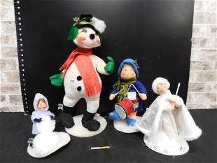 Lot of 4 Annalee Christmas Decorations