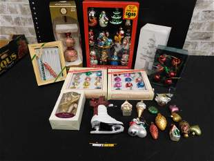 Group Lot of Christmas Ornaments