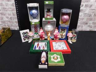 Group Lot of Christmas Ornaments including Dept. 56