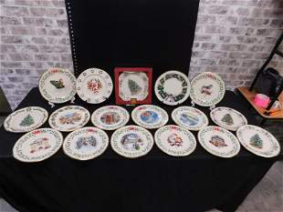 Box Lot of Lenox Christmas Plates