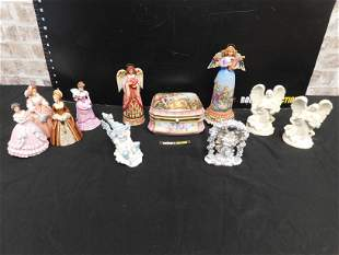 Box Lot of Figures including Lenox and Jim Shore