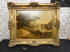 Framed Print on Board of a Countryside Scene
