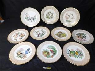 Lot of 10 Lenox and Boehm Bird Plates