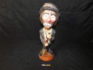 Emmett Kelly Hobo Clown Statue
