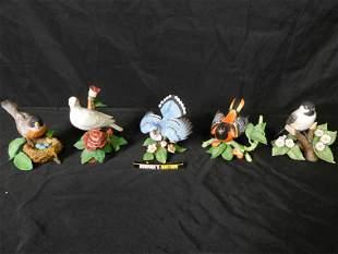 Lot of 5 Lenox Bird Figurines