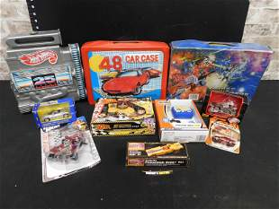 Box Lot of Toys including Die-Cast