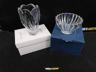 Marquis Waterford Crystal Vase and Bowl